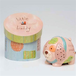 Hip and trendy baby for 4 compartment piggy bank